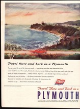 Original 1946 Print Ad Chrysler Plymouth Travel There and Back Buy US Wa... - $8.54