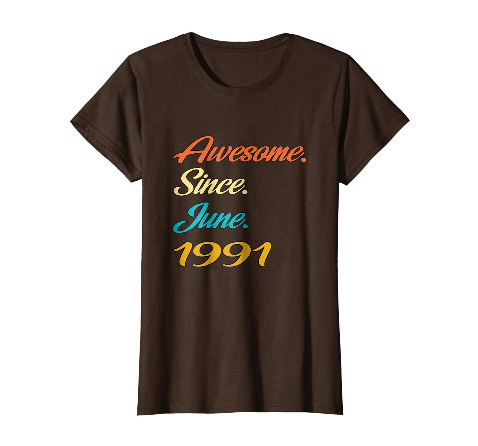 Uncle Shirts -   27th Birthday Gift Years old Awesome Since June 1991 Shirt Wowe image 4