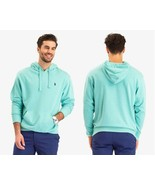 U.S. POLO ASSN Men's Solid 'FRENCH TERRY' Pullocer Hoodie,Jade Green Hea... - $39.59