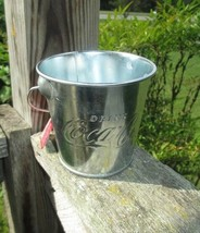 Coca-Cola Medium Galvanized Pail Dip Treats Party Favor Embossed- BRAND NEW - $4.95