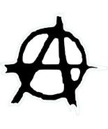 Anarchy punk shaped vinyl sticker 120x125mm Crass Conflict Sex Pistols c... - $3.44