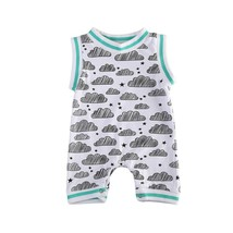 Newborn Baby Boys Girls Stripes Vest Romper Cloud Jumpsuit Clothes One-p... - $10.39