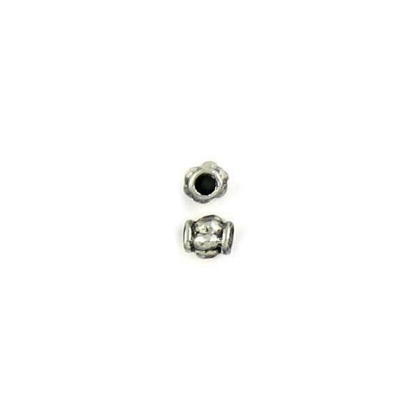 SMALL TUBE SPACER FINE PEWTER BEAD - 5mm W x 5mm H x 5mm D Hole: 2mm
