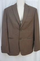 Perry Ellis Classic Fit Mens Jacket Sz 38 /SHT Regular Brown Stone  Blazer - $59.35
