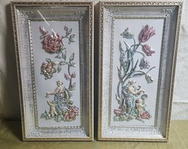 Pair of Vintage 1960 METALCRAFT POLY Wall Hangings Wall Decor MOTHER & C... - $36.00