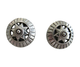Ben-Amun Small Round Pewter Earring Clips   - $26.00