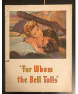 For Whom the Bell Tolls 1943 Movie Theater Booklet Gary Cooper / Ingrid ... - $19.80