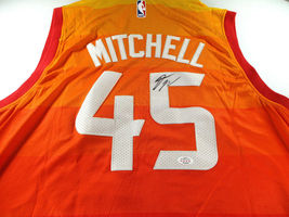 DONOVAN MITCHELL / AUTOGRAPHED UTAH JAZZ PRO STYLE BASKETBALL JERSEY / COA image 1