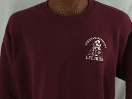 Aquinas Institute Li'l Irish Maroon Sweatshirt XXL 2XL Cotton Blend Lee - $37.34