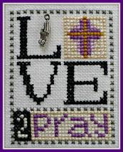 Love 2 Pray Love Bits cross stitch chart Hinzeit - $6.00