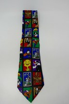 Looney Tunes 1997 Stamp Collection New Block Bugs Bunny Tweety Novelty Necktie - $12.19