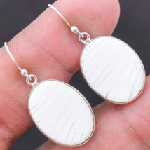 Adorable Scolecite Earrings, 925 Silver, Positive Energy, Handmade - $28.00