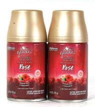 2 Cans Glade 6.2 Oz Limited Edition Peaceful Rose & Wood Automatic Spray Refill - $20.99