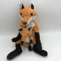 "Vandring Rav 16"" IKEA Bright Orange Fox Mama Mom Baby Fox Plush Attached  - $47.51"