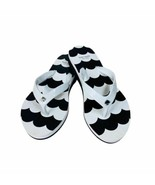 New KATE SPADE Milli Flip Flop Sandale White Black Silver Spade Size 9 - $39.96
