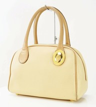 Authentic CHRISTIAN DIOR Beige Leather Boston Hand Bag #29770 - $185.00