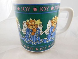 Vintage Lucy & Me  Angel Bear Mug Christmas Joy Enesco 1987 - $11.87