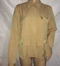 Ralph Lauren  Women`s  Light Jacket jean style Size M  Silk /Cotton Gold khaki - $10.39