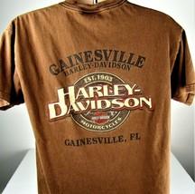 Harley Davidson T-Shirt Large Gainesville Florida Motorcycle Biker Dead ... - $13.81