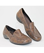 Merrell Size 9 Parma Loafers Shoes Brown Leather Ortholite Stretch Comfort - $23.74