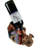 11.25 Inch Rugged Cowboy Guzzler Wine Holder Statue Figurine - $23.75