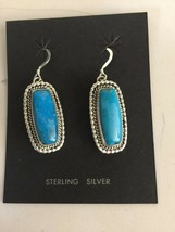 Navajo - Signed Ee - Etta Endito / Sterling and Blue Diamond Earrings - $89.99