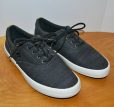 Mens Sperry Wahoo Baja Gray Canvas Sneakers Casual Shoes Size 7 M - $55.65 CAD