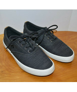 MENS SPERRY WAHOO BAJA GRAY CANVAS SNEAKERS CASUAL SHOES SIZE 7 M - $41.01
