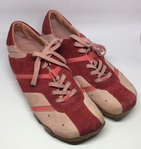 Women's Diesel 'Shaela' Pink Suede Leather Fashion Sneakers size 10 US s... - $18.69