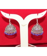 Blue Quartz Antique  Vintage Look  Tibetan Silver Earring G-312-1 - $5.94