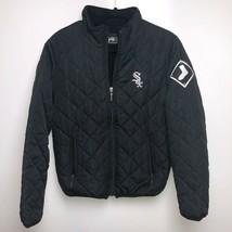 Def Jam Jacket Men's S Black Chicago White Sox MLB Baseball Quilted Logo - $33.62