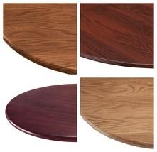 "Wood Grain Round ELASTIC TABLECLOTH 45""-56"" Table Cover Vinyl Kitchen Di... - $23.95"
