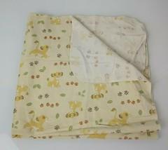 Disney Baby Lion King Receiving Blanket Simba Paw Print Cotton Flannel 2... - $25.73