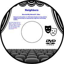 Neighbors 1920 DVD Movie Comedy Buster Keaton Edward F Cline Joe Keaton ... - $3.99