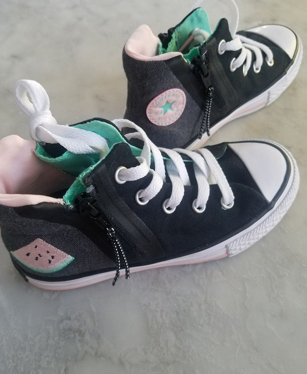 Converse Chuck Taylor All-Star Zip Watermelon High Top Kids Sz 12 - $74.80