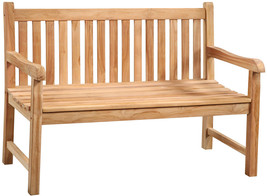 "Solid Premium Teak Garden Pool Patio Bench, 51""L - $692.01"