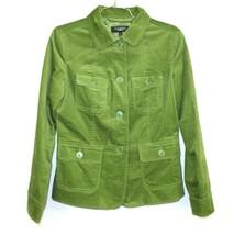 Talbots Blazer Leaf Green  Velvet Classic Jacket Cotton Stretch Women's ... - $39.00