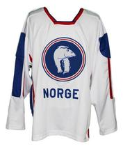 Per-Age Skroder #19 Team Norway Custom Hockey Jersey New Sewn White Any Size image 4
