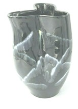Vintage Royal Haeger Exquisite  Mid Century Black Pottery Vase Mid 1960`s - $12.87