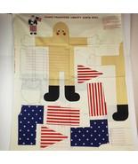 Vintage Liberty Santa Doll Panel by Fabric Traditions 1991 Cotton USA Pa... - $24.99