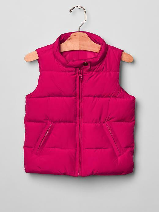 Primary image for NWT $50 GAP Kids Girls XS 4 5 Warmest Solid Puffer Vest Hot Pink