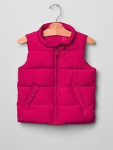 NWT $50 GAP Kids Girls XS 4 5 Warmest Solid Puffer Vest Hot Pink - $21.77