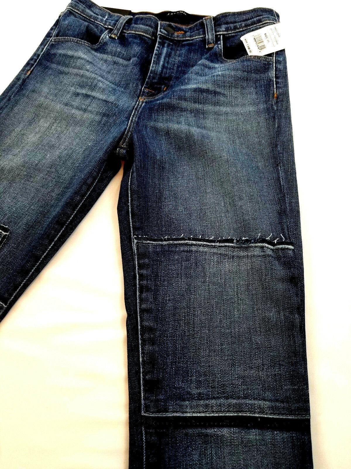 new J BRAND women jeans Jasper Patched JB001098 high rise crop 26 blue MSRP $298 image 8