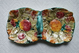 Old Vintage Candy Nut Divided Relish Dish Tray 2 Sided Fruit Apples mayb... - $9.99