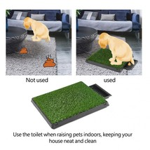 Dog Pet Potty Training Pee Puppy Pad Mat Puppy Tray Grass - $35.86