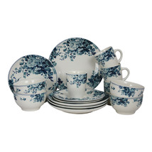 Elama Traditional Blue Rose 16 Piece Dinnerware Set - $71.00