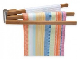 Wall Mounted Bamboo 3-Arm Towel Bar - $38.51