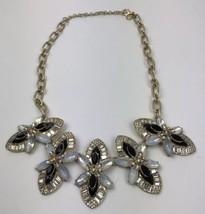 J. CREW Stone Crystal Gemstone Cluster Bib Statement Necklace Authentic - $35.63