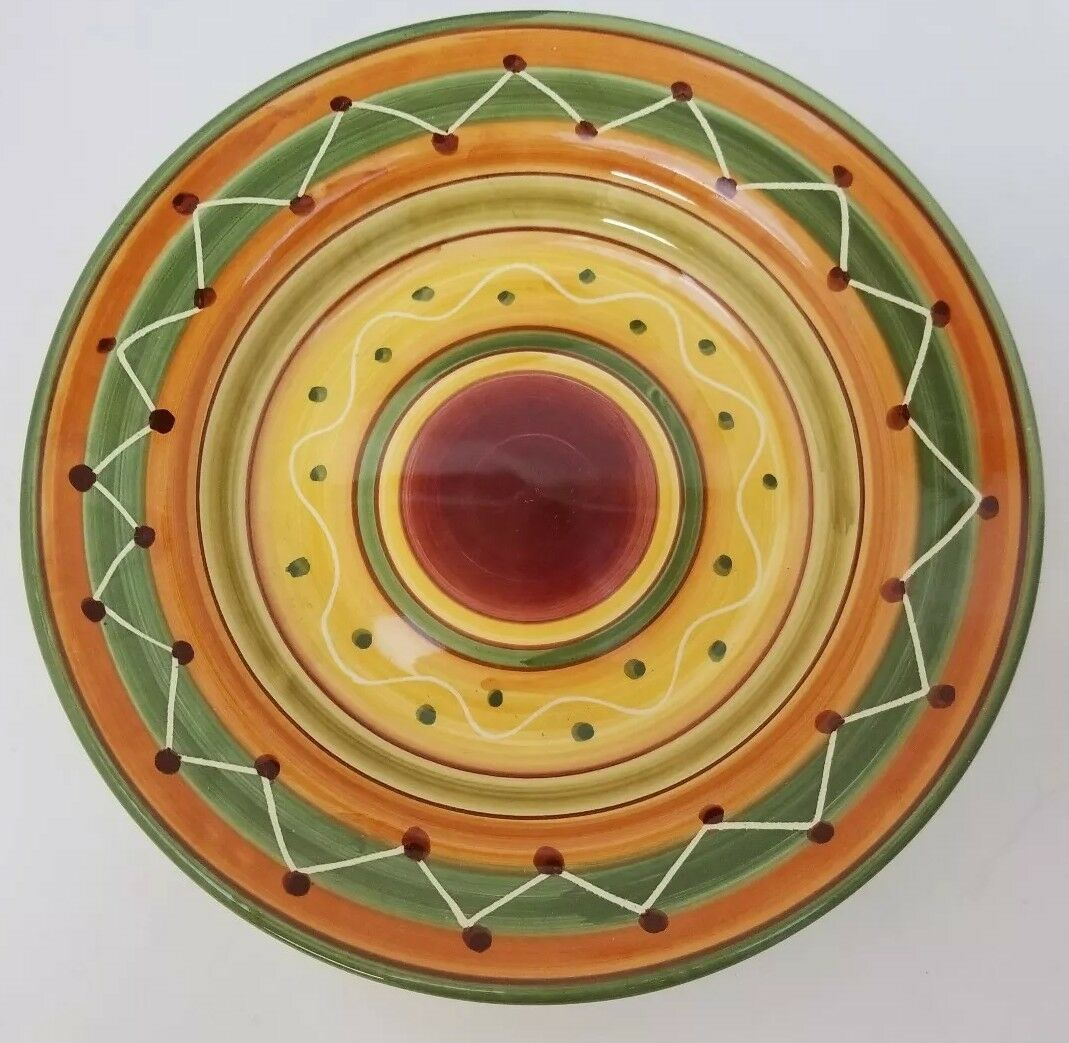 "Pier 1 Etrusco 9.5"" Soup Pasta Bowl Handpainted Dishwasher Safe Made Italy image 6"