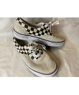Vans Old Skool Skate Shoe Checkered Black And White Suede Women's Size 6.5 - $11.00